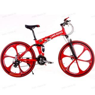 Велосипед на литых дисках Land Rover (Красный)