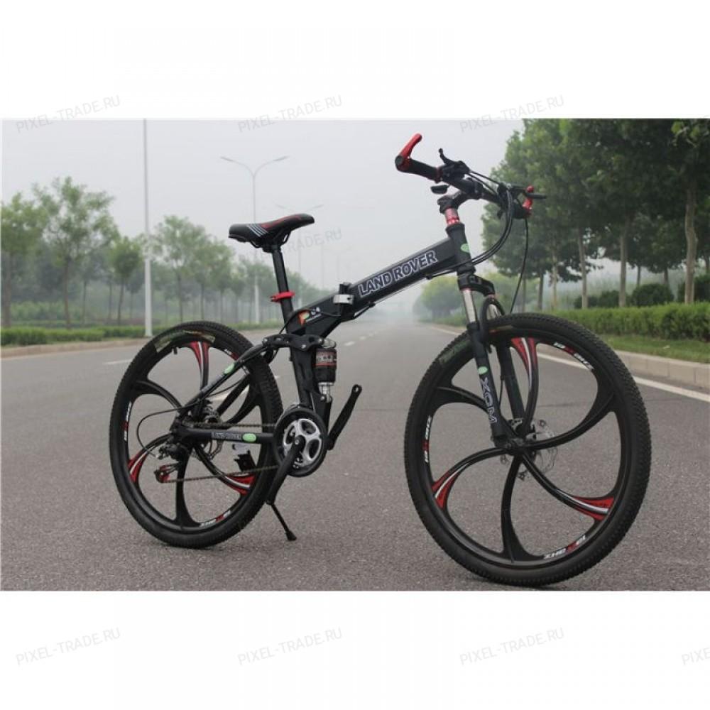 Велосипед на литых дисках Land Rover (Черный)