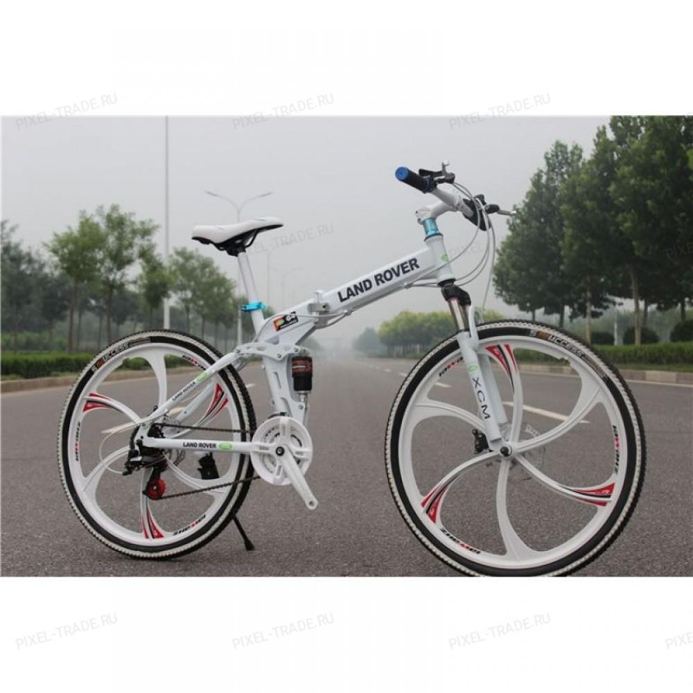 Велосипед на литых дисках Land Rover (Белый)