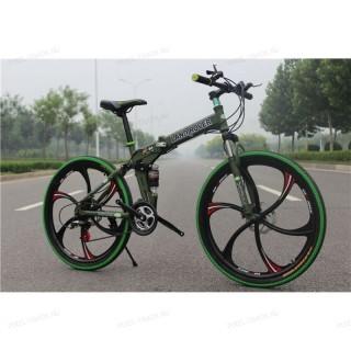 Велосипед на литых дисках Land Rover (Зеленый)
