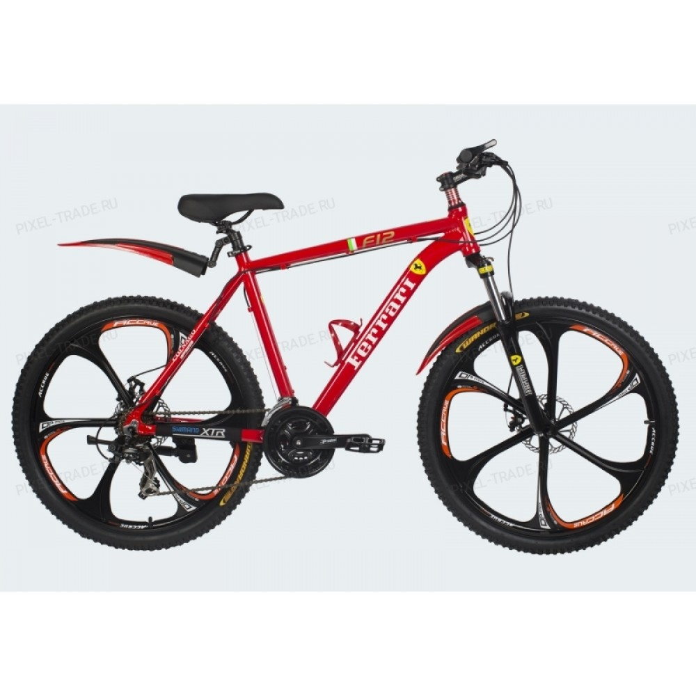 Велосипед на литых дисках Ferrari F12 red-black