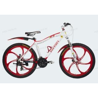 Велосипед на литых дисках Ferrari F8 white-red