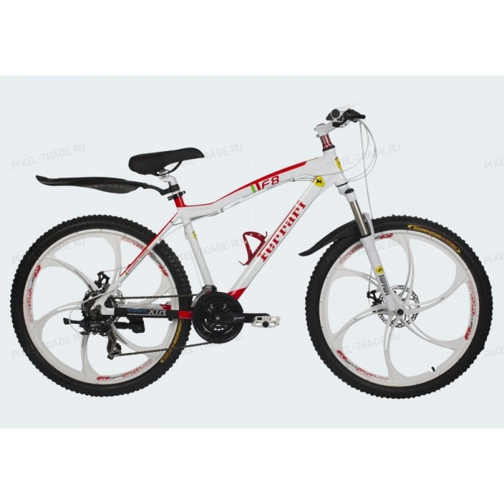 Велосипед на литых дисках Ferrari F8 white
