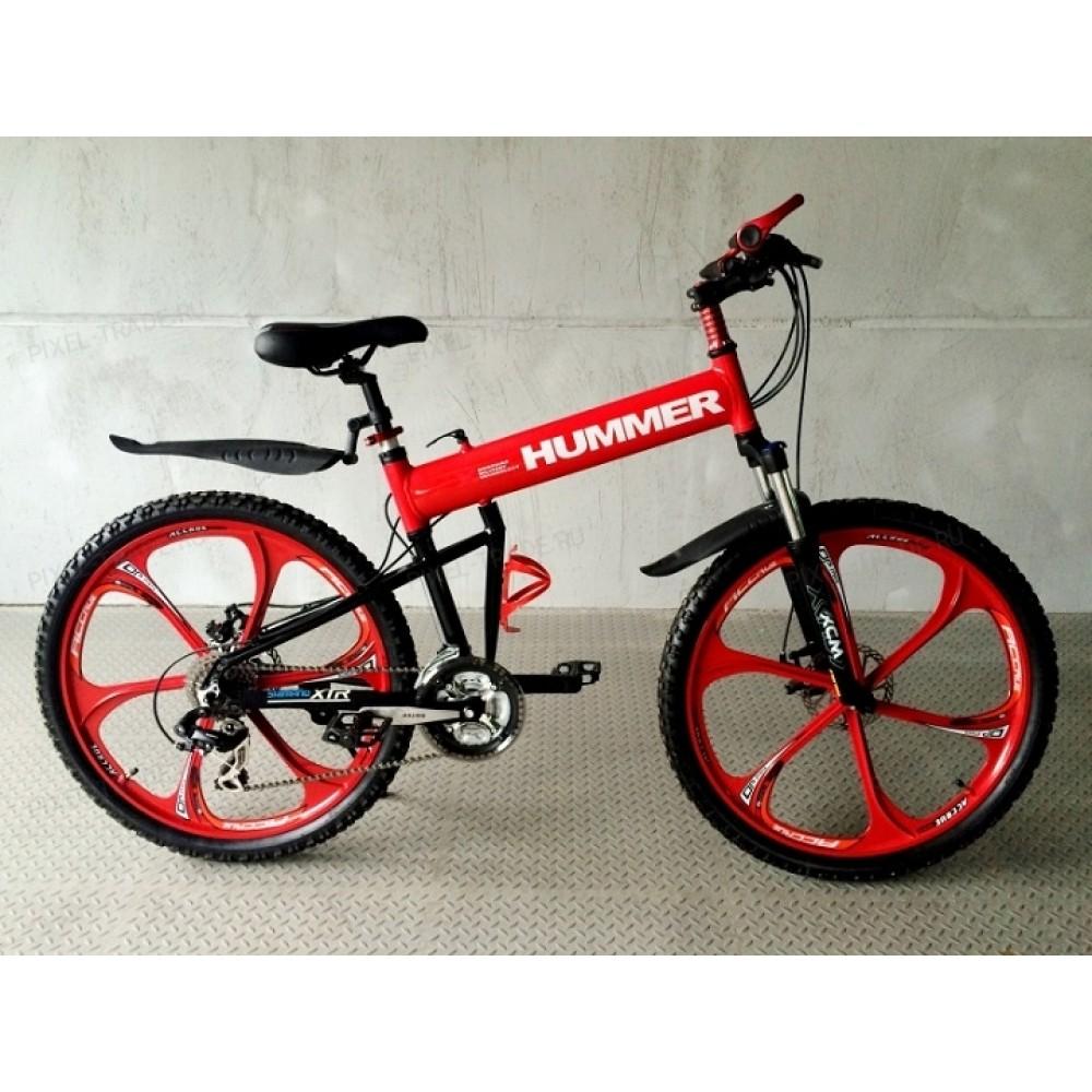 Велосипед на литых дисках Hummer X Red
