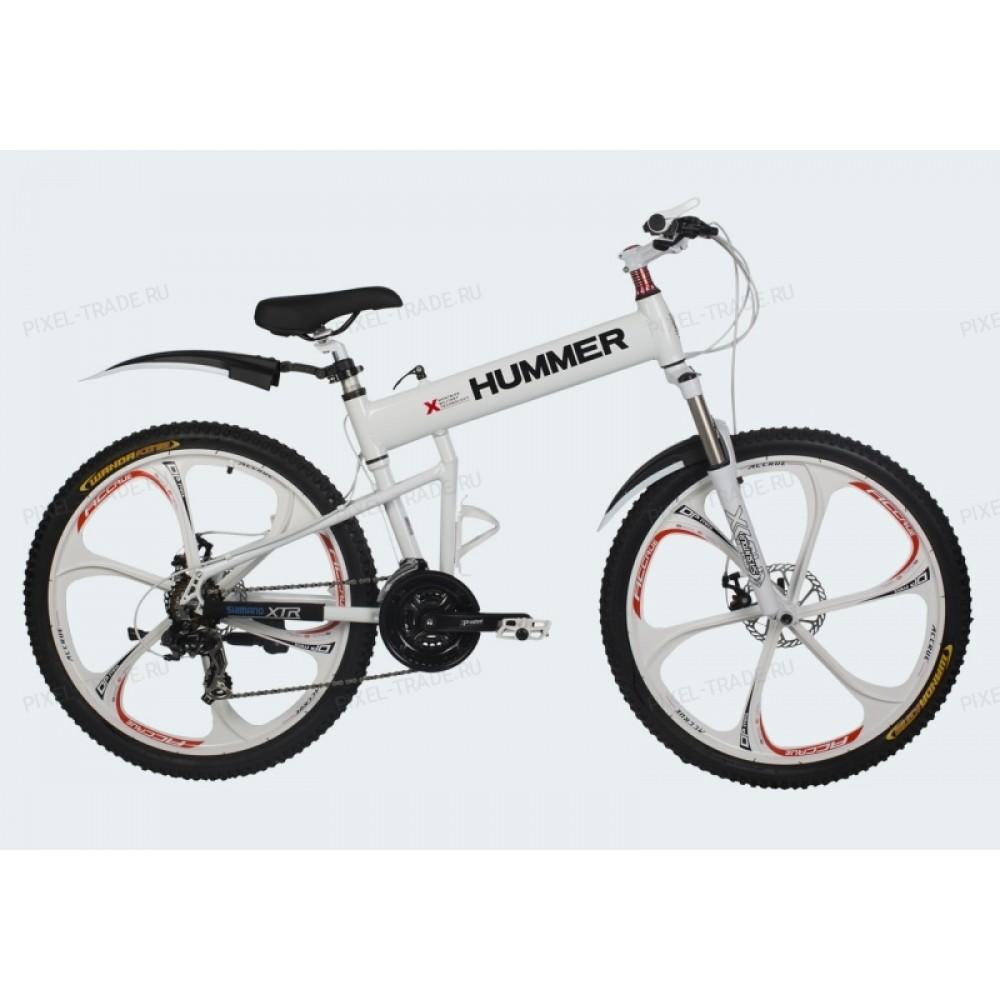 Велосипед на литых дисках Hummer X White