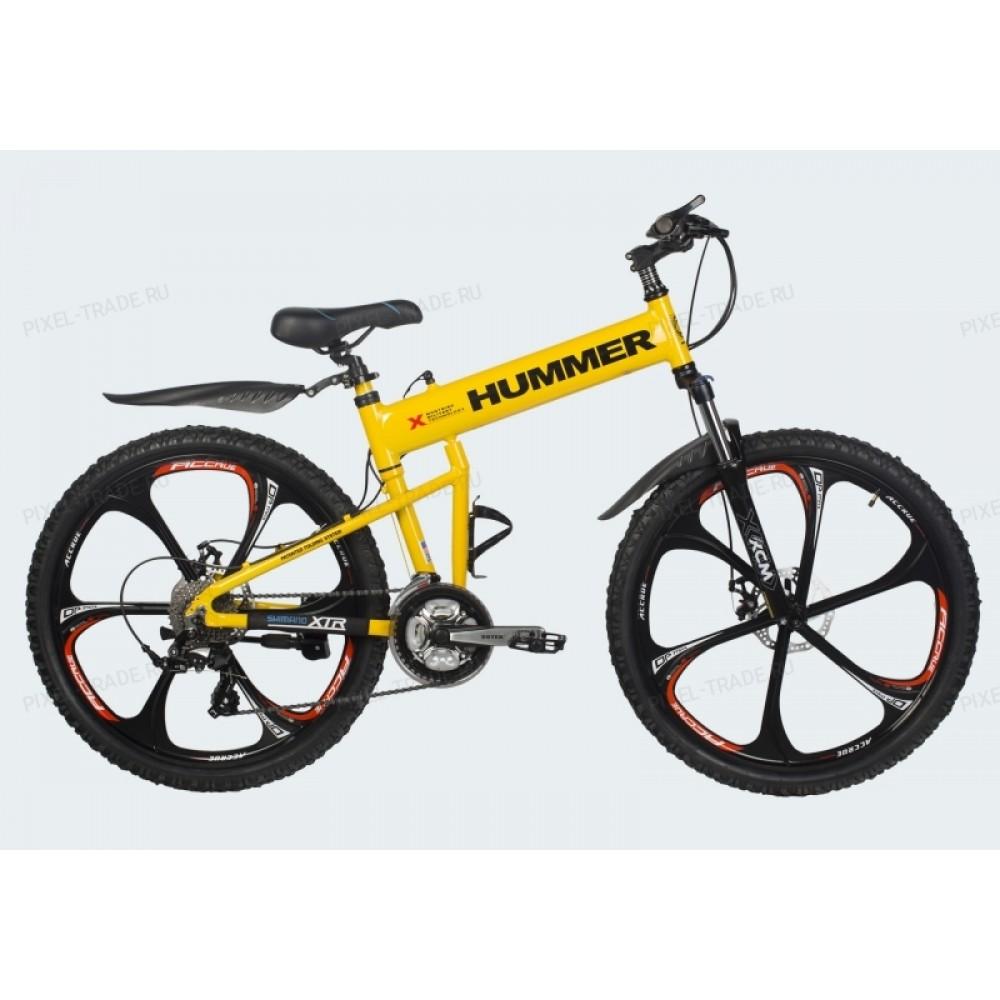 Велосипед на литых дисках Hummer X yellow-black