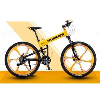 Велосипед на литых дисках Hummer X Yellow