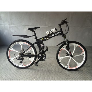 Велосипед на литых дисках Land Rover black-white