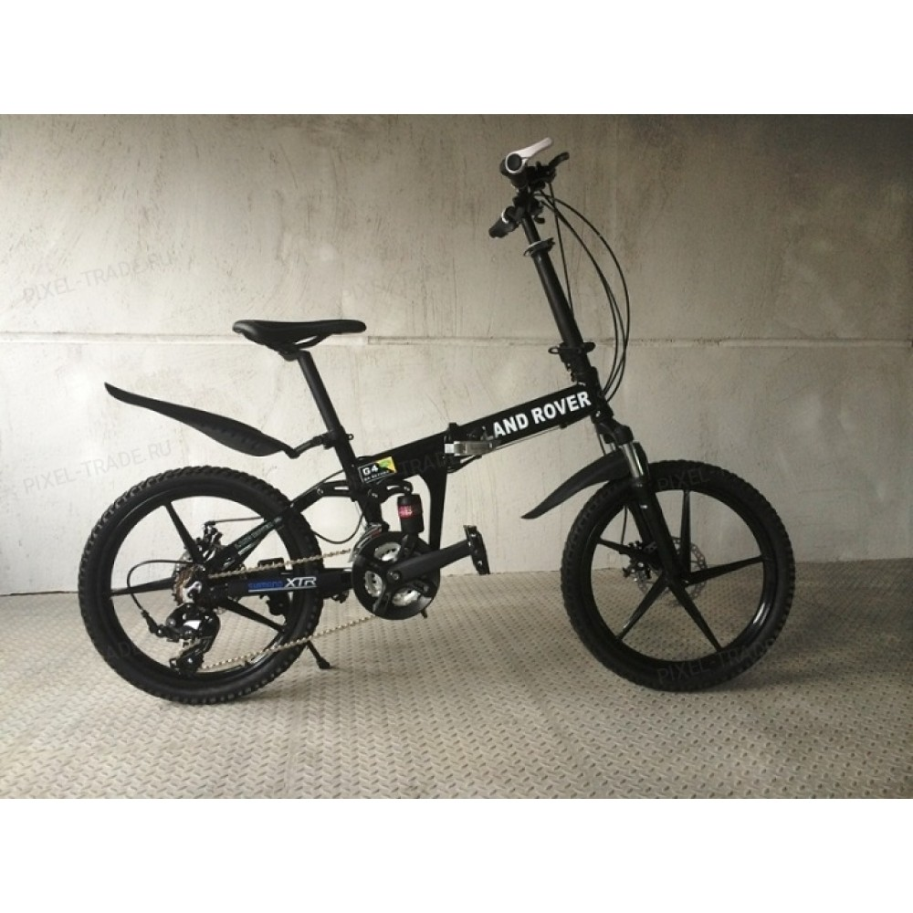 Велосипед на литых дисках Land Rover black Kids