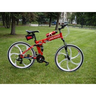 Велосипед на литых дисках Land Rover Red-White