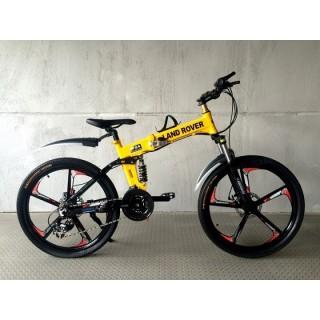 Велосипед на литых дисках Land Rover yellow-black Junior
