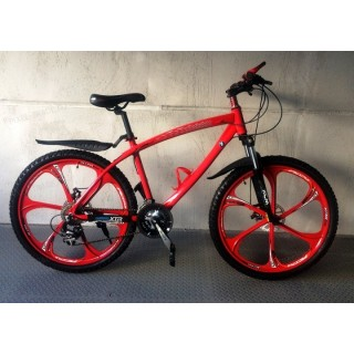 Велосипед на литых дисках BMW X1 red