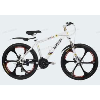 Велосипед на литых дисках Ferrari CX50 white-black
