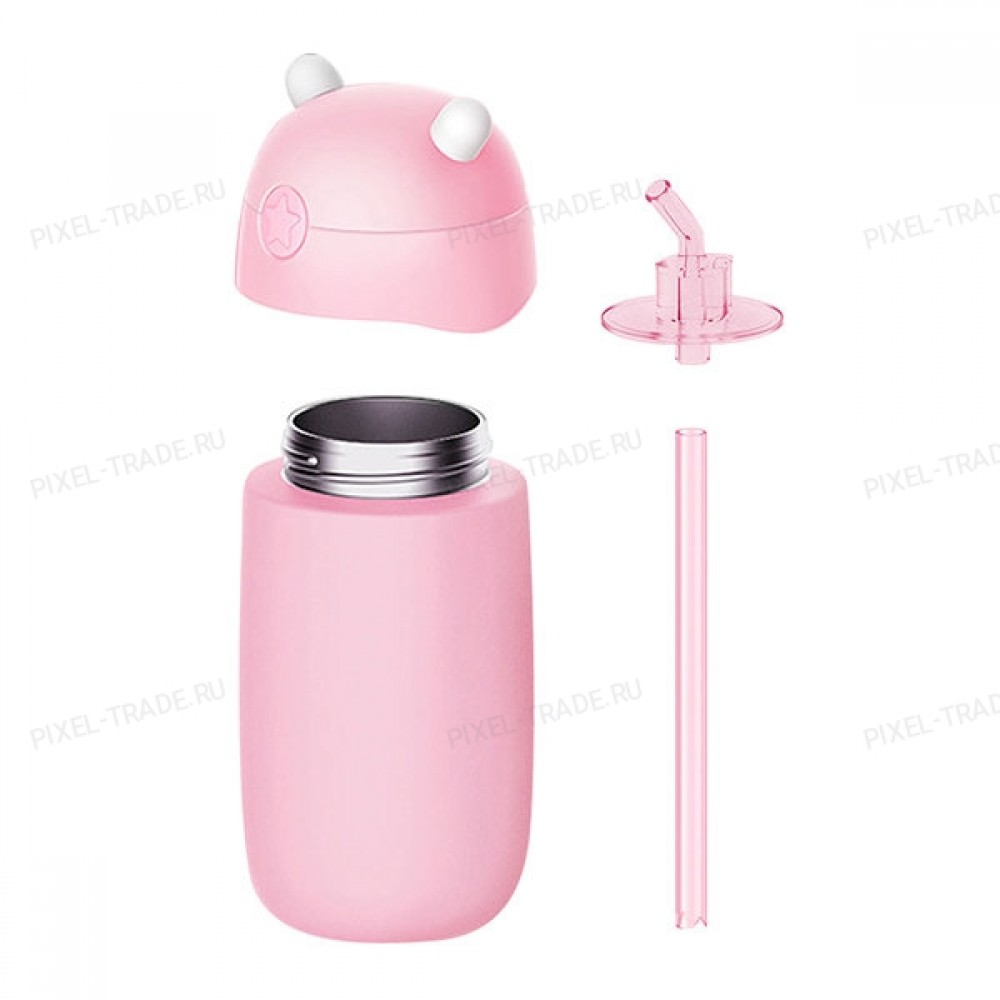 Детский термос Xiaomi mitu (Rice Rabbit) Pink