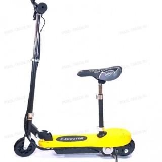 Электросамокат E-Scooter 120w Желтый (с сиденьем)