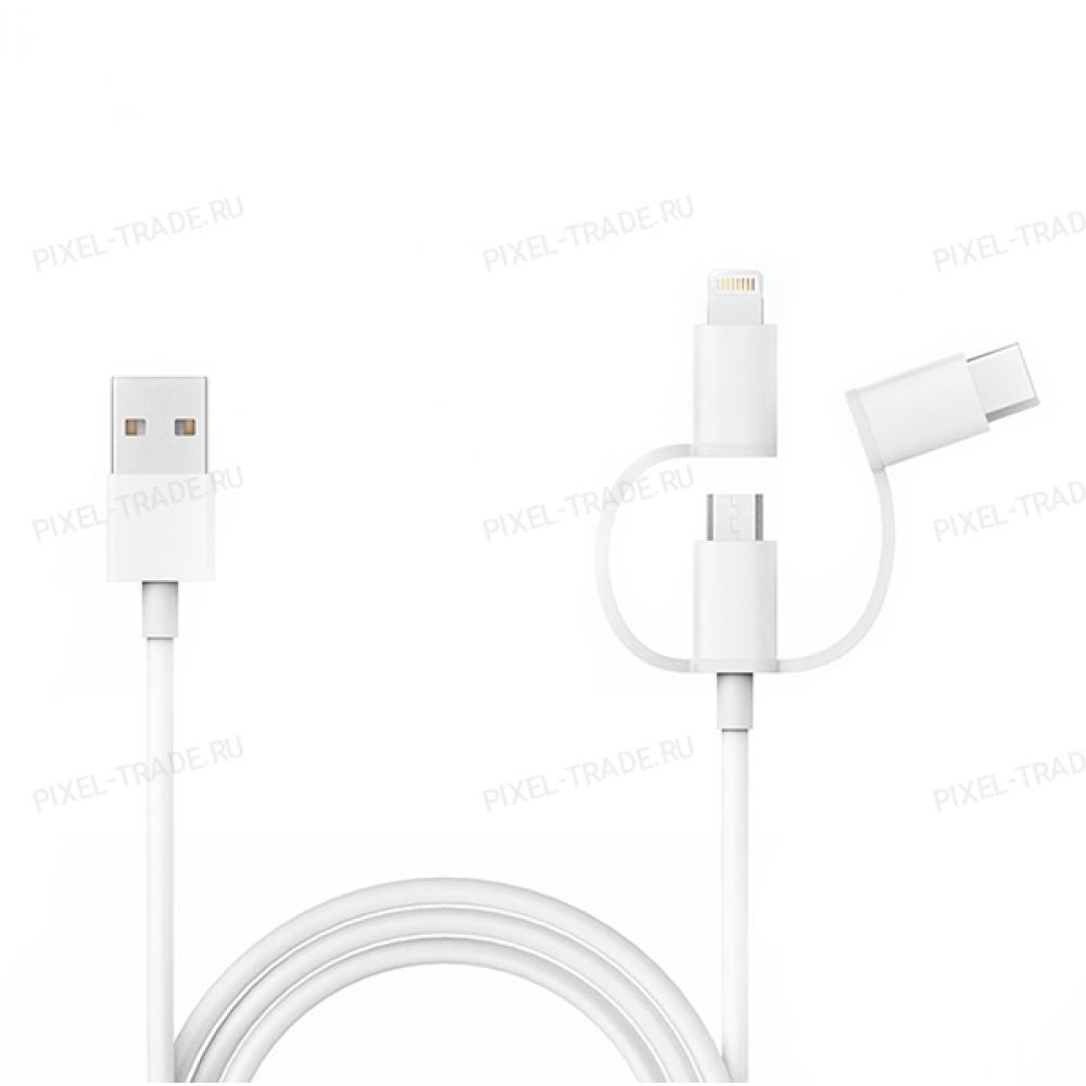 Кабель Xiaomi 3-in-1 Cable L=1m Micro USB/Type-C/Lightning White