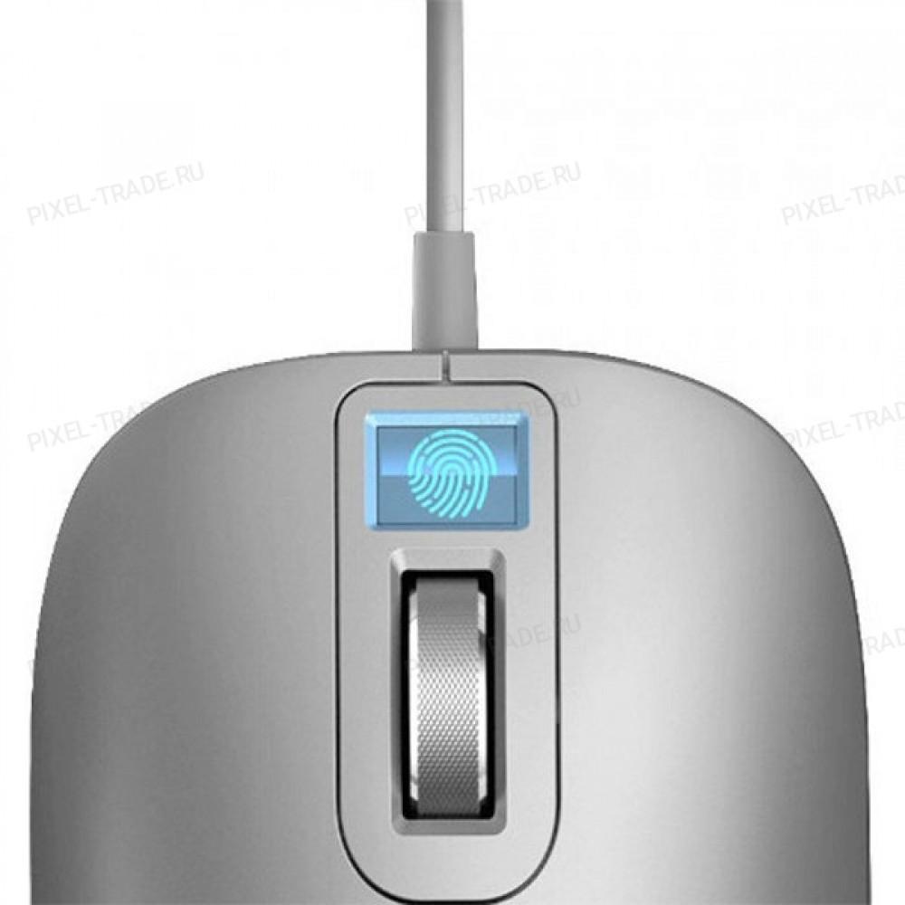 Компьютерная мышь со сканером отпечатка пальца Xiaomi Jesis Smart Fingerprint Mouse Silver