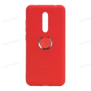 Силиконовый чехол с кольцом Nano Ring для Xiaomi Mi 9T/K20 (Красный)