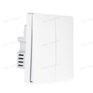 Умный выключатель Xiaomi Aqara Smart Light Control ZigBee (двойной, с нулевой линией)