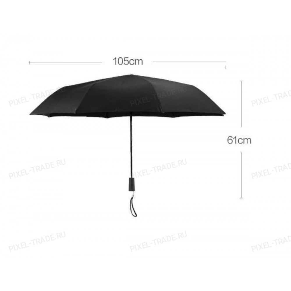 Зонт Xiaomi Two or Three Sunny Umbrella Black