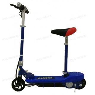 Электросамокат E-Scooter 120w Синий (с сиденьем)