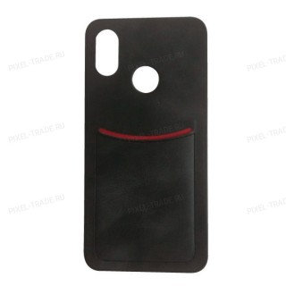 ILEVEL чехол-накладка визитница для Xiaomi Mi 8 (Черный)