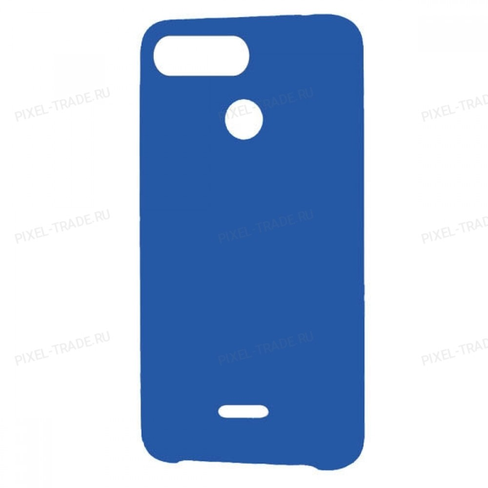 Накладка пластиковая Soft-touch для Xiaomi Redmi 6 (Синий)