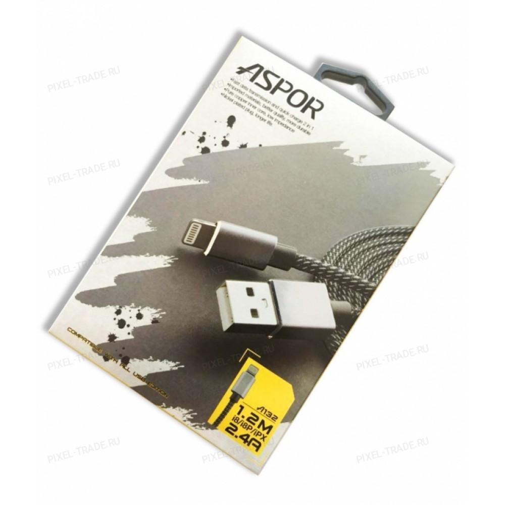 USB кабель Aspor A132 Lightning для iPhone 5/6