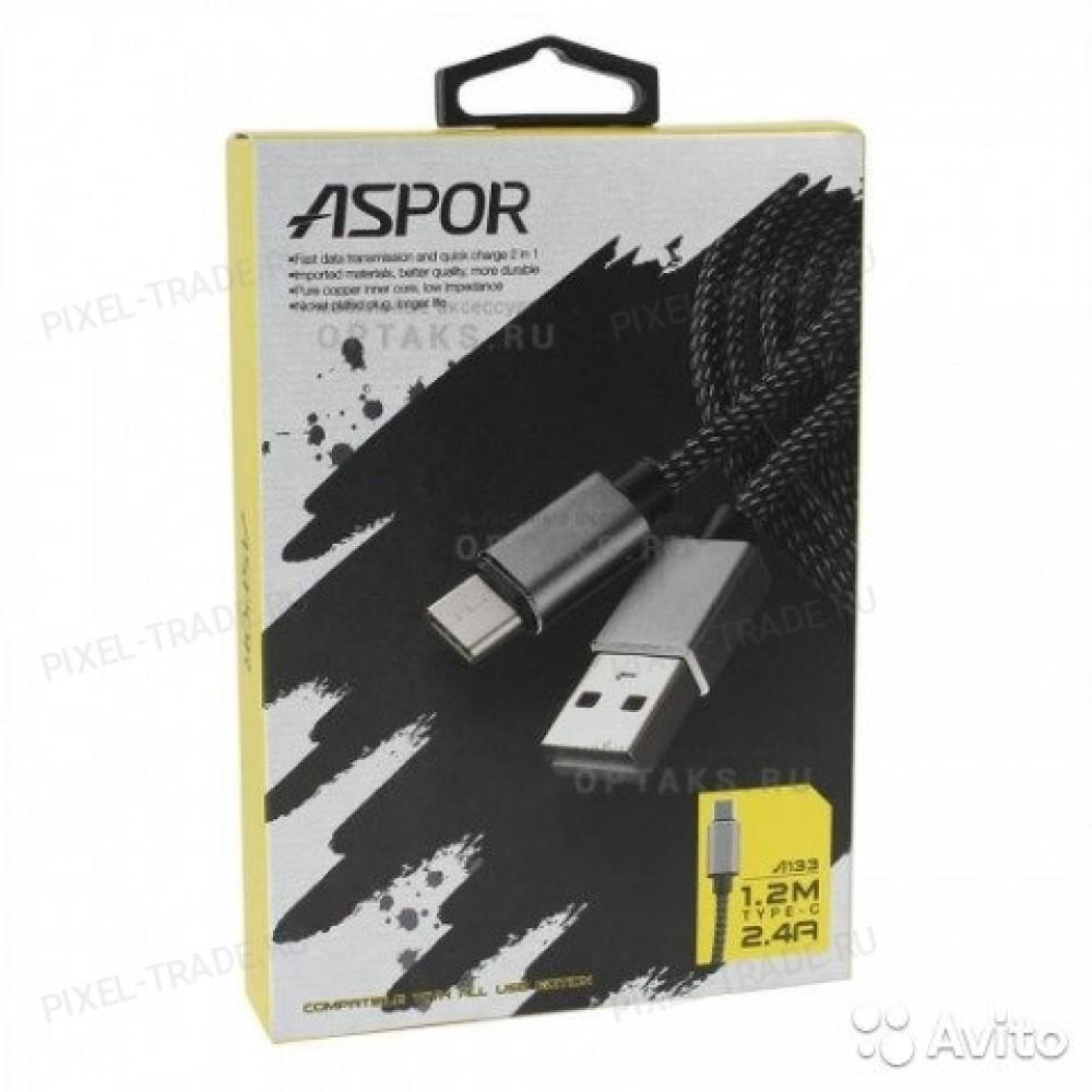 USB кабель  Aspor A133L Type-C