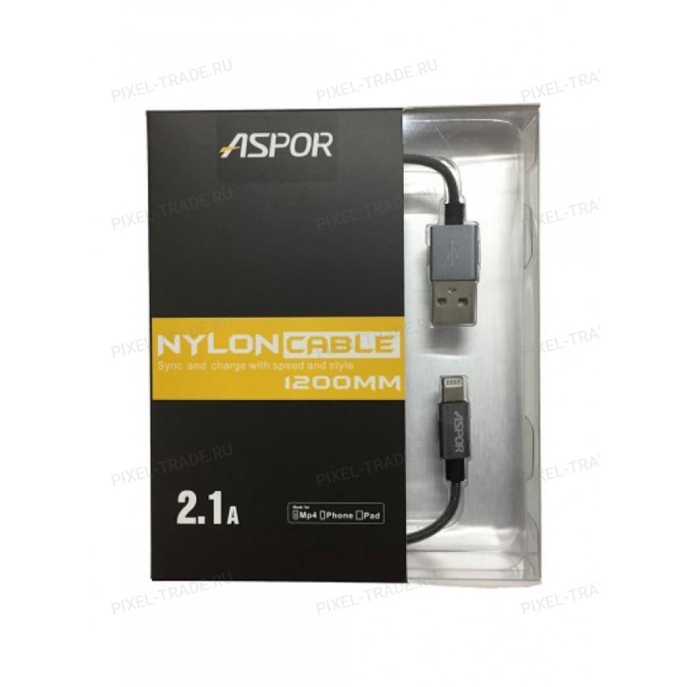 USB кабель Aspor Nylon A128 Lightning