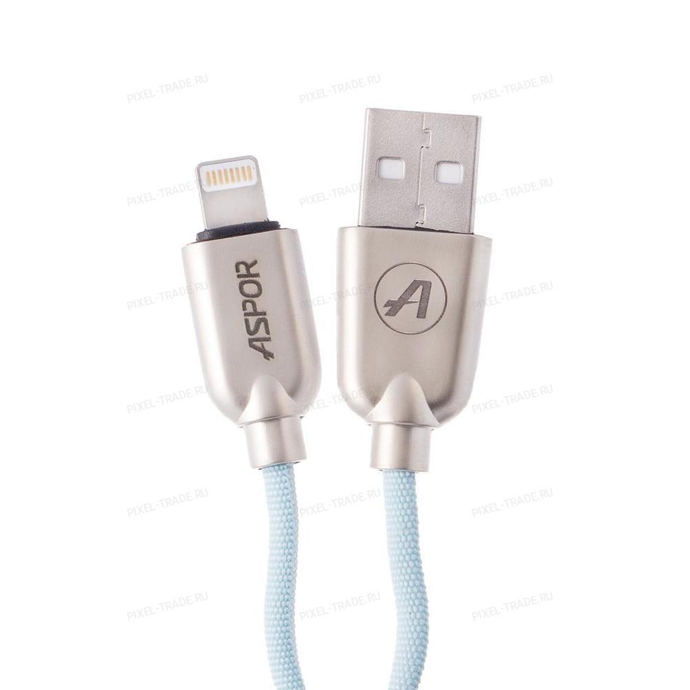 USB кабель Lightning Aspor A117 Nylon Kirsite