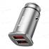 Автомобильное зарядное устройство Baseus 30 Вт Dual USB Quick Charge QC 4.0 Grey CCALL - DS0S