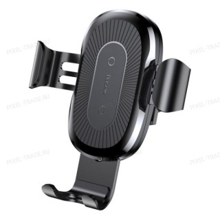 Автомобильный держатель Baseus Wireless Charger Gravity Car Mount (Black) WXYL-01
