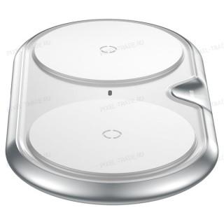 Беспроводное зарядное устройство Baseus Dual Wireless Plastic Style (White) WXSJK-02