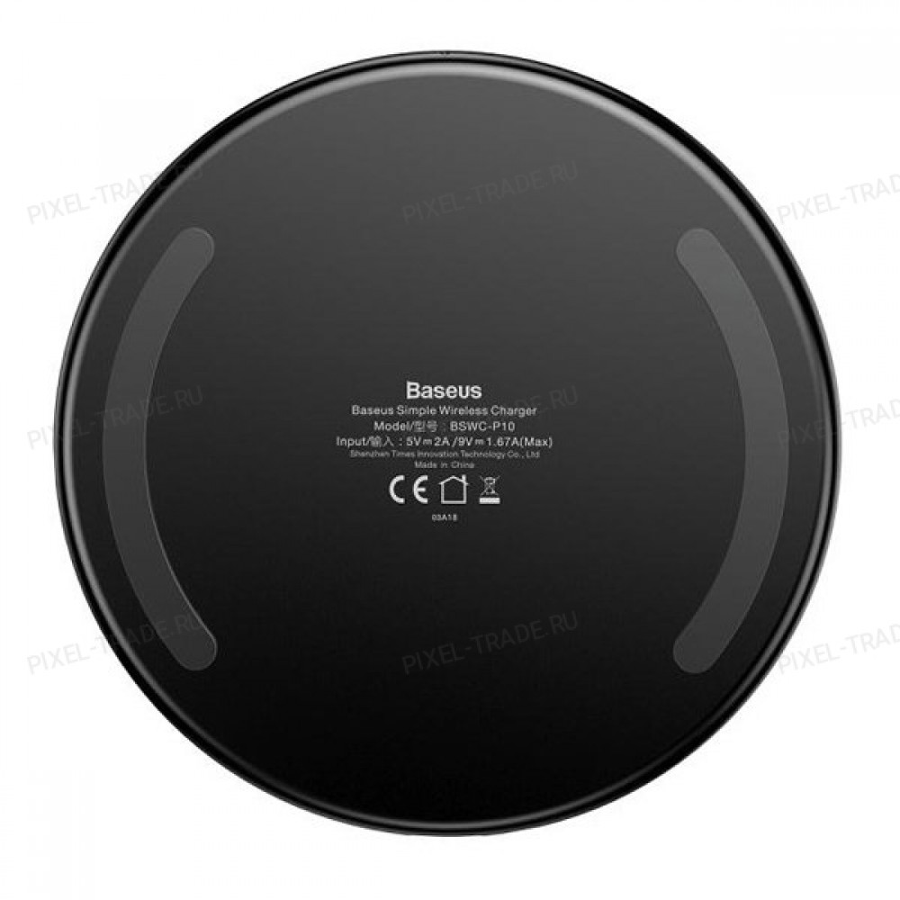 Беспроводное зарядное устройство Baseus Simple Wireless Charger (Black) CCALL-AJK01