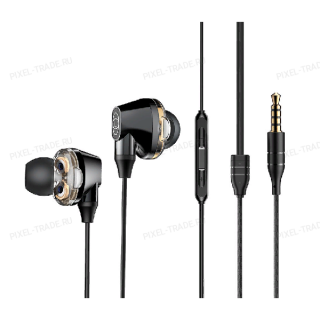 Наушники Baseus Encok H10 Dual Dynamic Wired Headset (Black) NGH10-01
