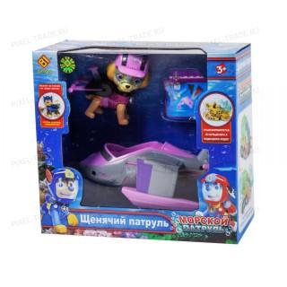Щенок девочка - Скай  с машинкой монстр-кар Щенячий патруль (Морской патруль)
