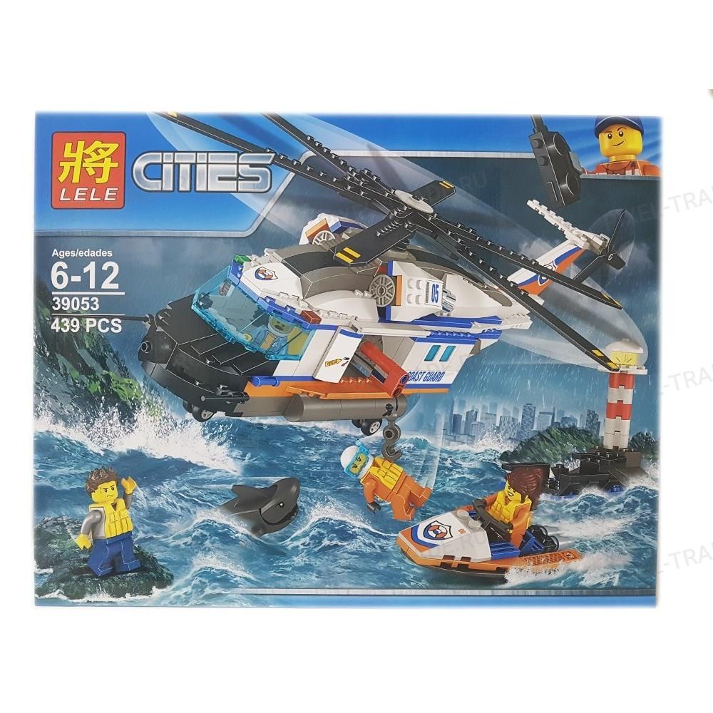 """Конструктор """"Сверхмощный спасательный вертолет """" LELE 39053 - 439 дет."""