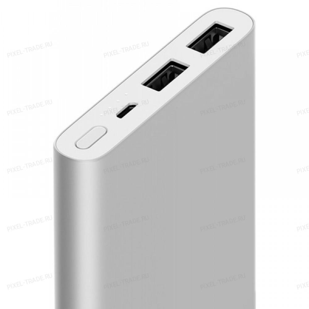 Внешний аккумулятор Power Bank Xiaomi Mi Power 2i 2USB 10000 mAh Silver