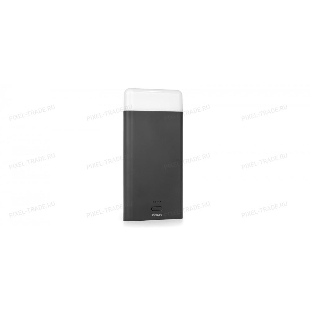 Внешний аккумулятор Power Bank Rock Light Stone 8000mAh (Черный)