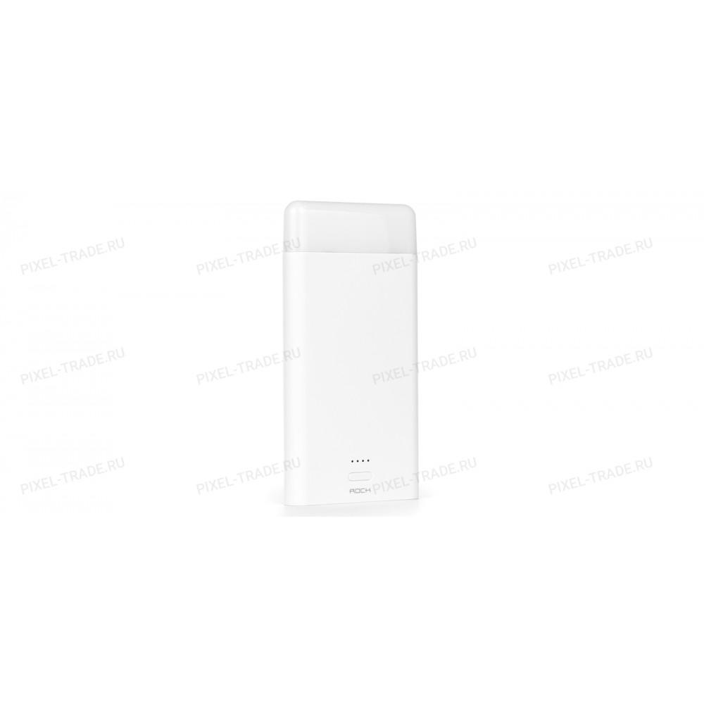 Внешний аккумулятор Power Bank Rock Light Stone 8000mAh (Белый)