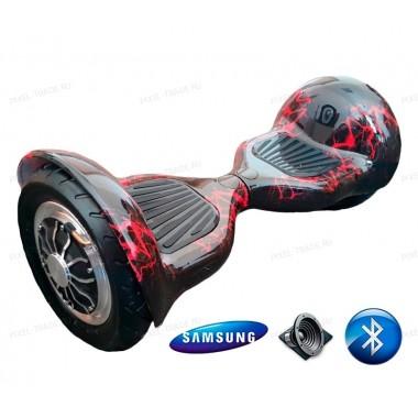 Smart Balance Wheel SUV 10 Красная молния + Самобаланс +Bluetooth