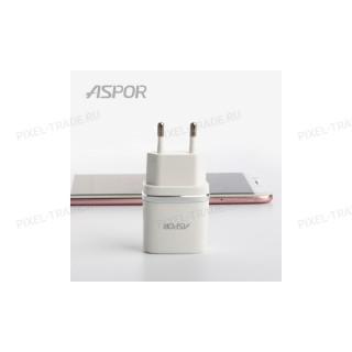 СЗУ Aspor А828 2USB + кабель iPhone 5/6 2.4A.