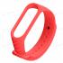 Сменный браслет Xiaomi Mi Band 3 ребристый (Красный)