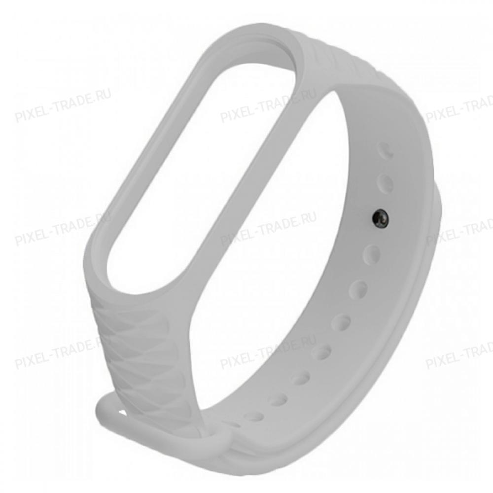 Сменный браслет Xiaomi Mi Band 3 ребристый (Серый)