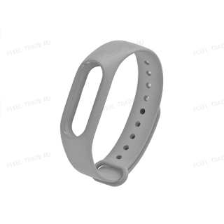 Сменный браслет Xiaomi Mi Band 3 однотонный (Серый)