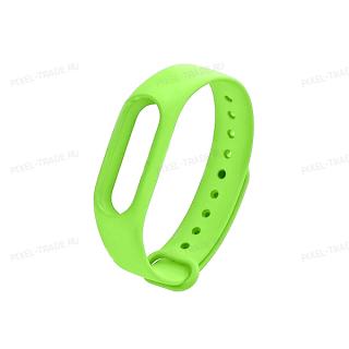 Сменный браслет Xiaomi Mi Band 3 однотонный (Салатовый)