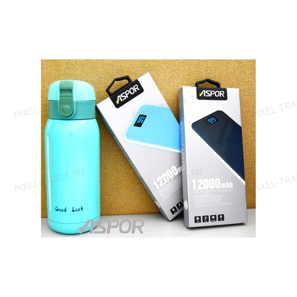 Powerbank Aspor A386 Soft Touch, 12 000mAh.