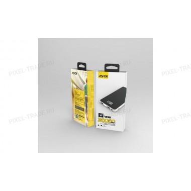 Powerbank Aspor A398,   20 000mAh, 2USB, с разъемом для зарядки MacBook.