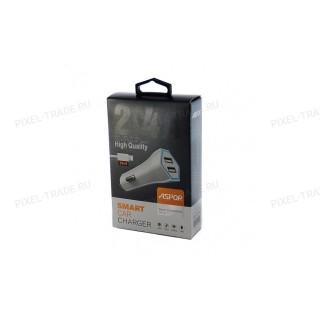 АЗУ Aspor A901 + USB кабель Lightning, 2in1/2USB/2.4A.